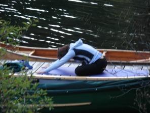 Yoga on the dock
